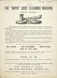 Advert for the Rapid Boot Cleaning Machine